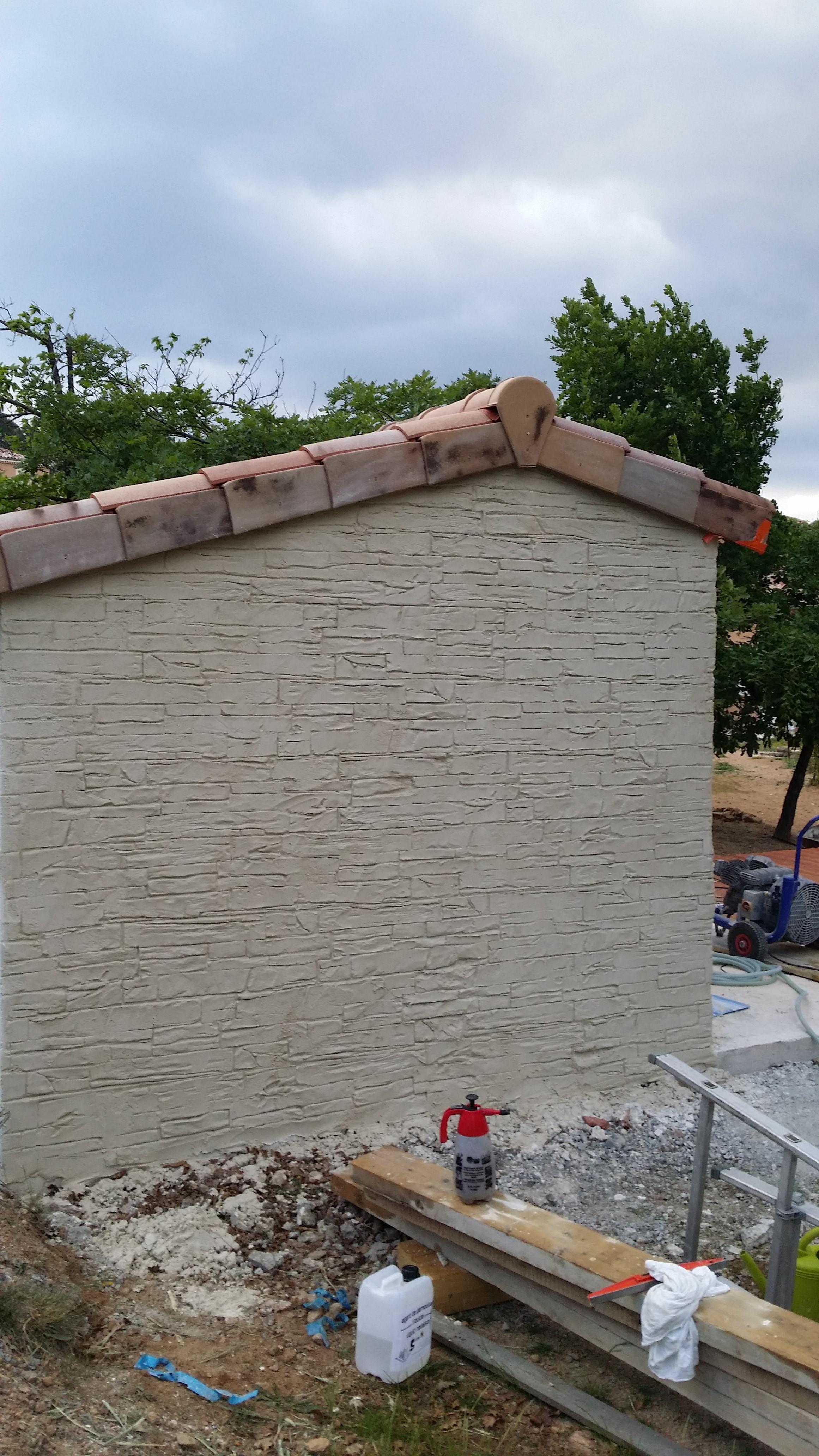 Mortier faux rochers mortier pierres murales mur for Fausses pierres murales